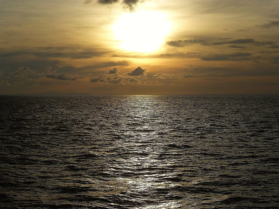 Ocean, Sunset, Thailand, Evening Sky, Mood