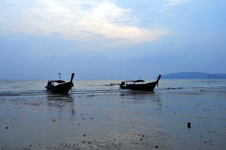 Boat, Ocean, Thailand, Outflow