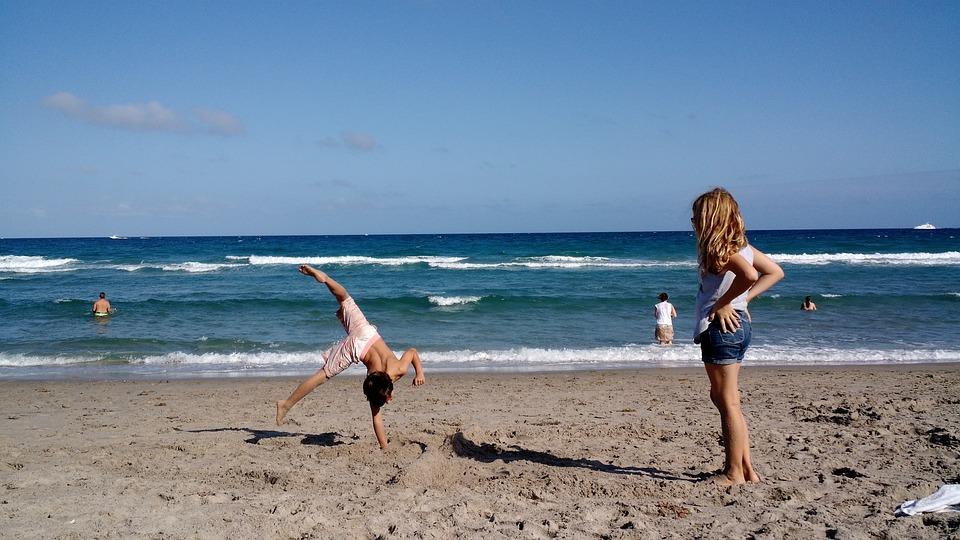 Beach, Kids, Ocean, Vacation, Family