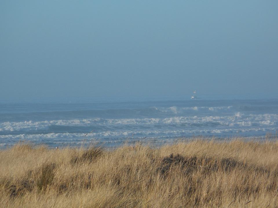 Ocean View, Ship, Mist, Sea, Ocean, Water, Beautiful