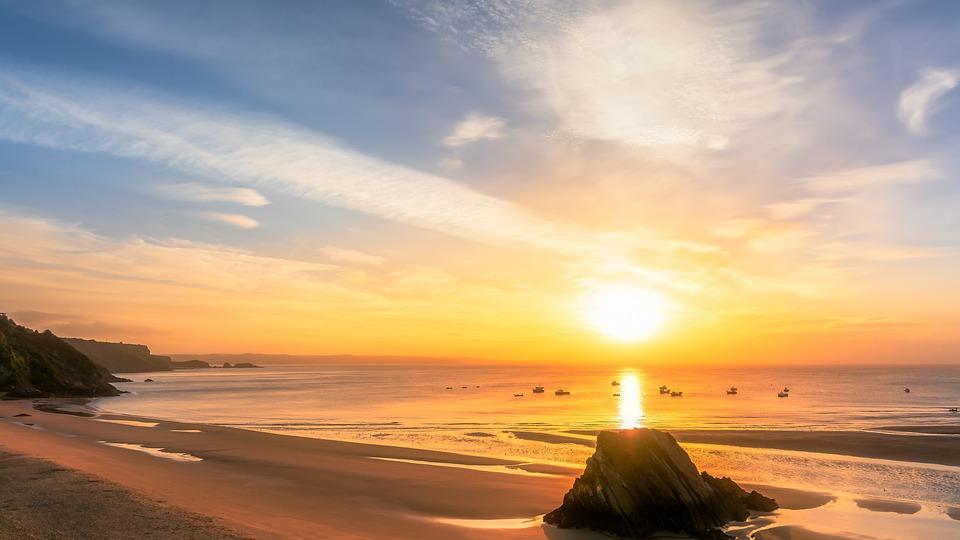 Bay, Seascape, Tenby, Wales, Pembrokeshire, Sea, Ocean