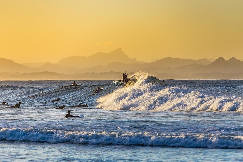 Surfing, Surfer, Sea, Surf, Wave, Water, Ocean, Beach
