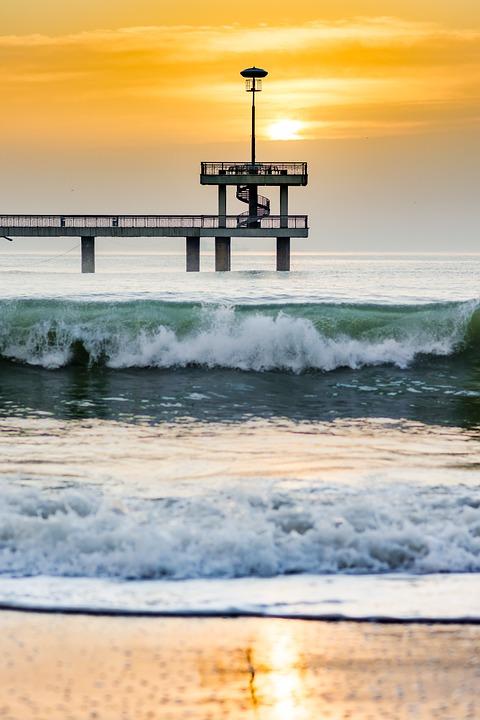 Water, Sea, Beach, Ocean, Seashore, Nature, Sunset