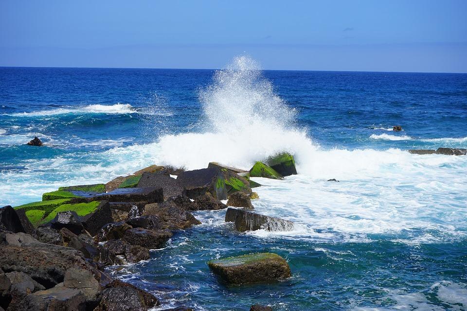 Breakwater, Wave, Sea, Ocean, Water, Spray, Inject