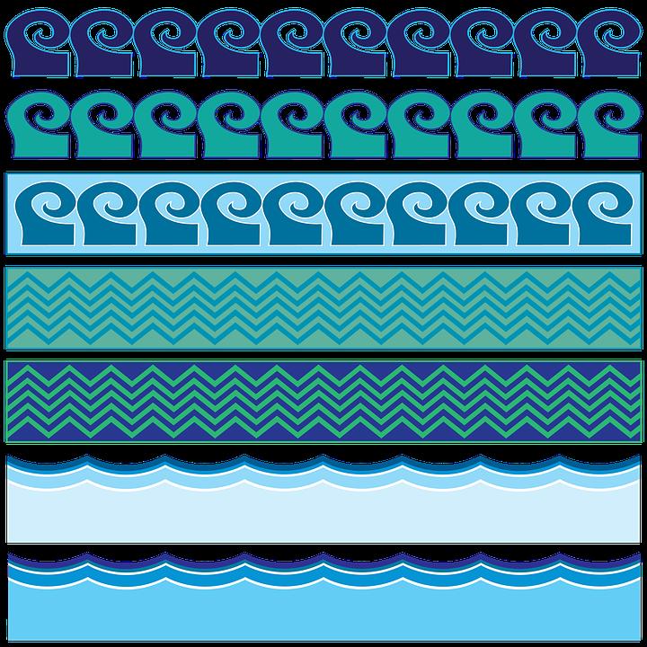 Water, Border, Waves, Sea, Ocean, Wave Vector