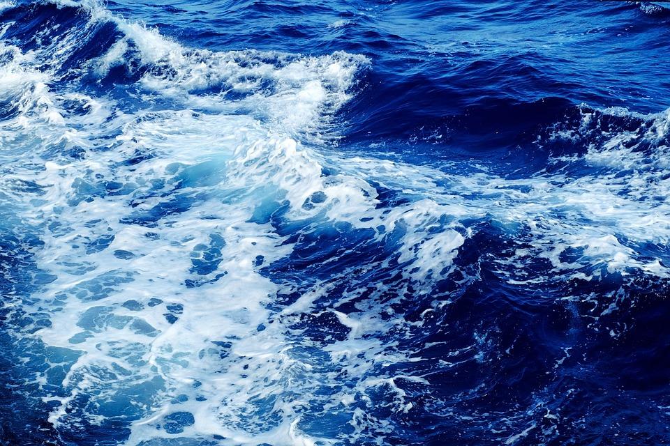 Waves, Sea, Water, Blue, Blue Water, Ocean, Ocean Waves