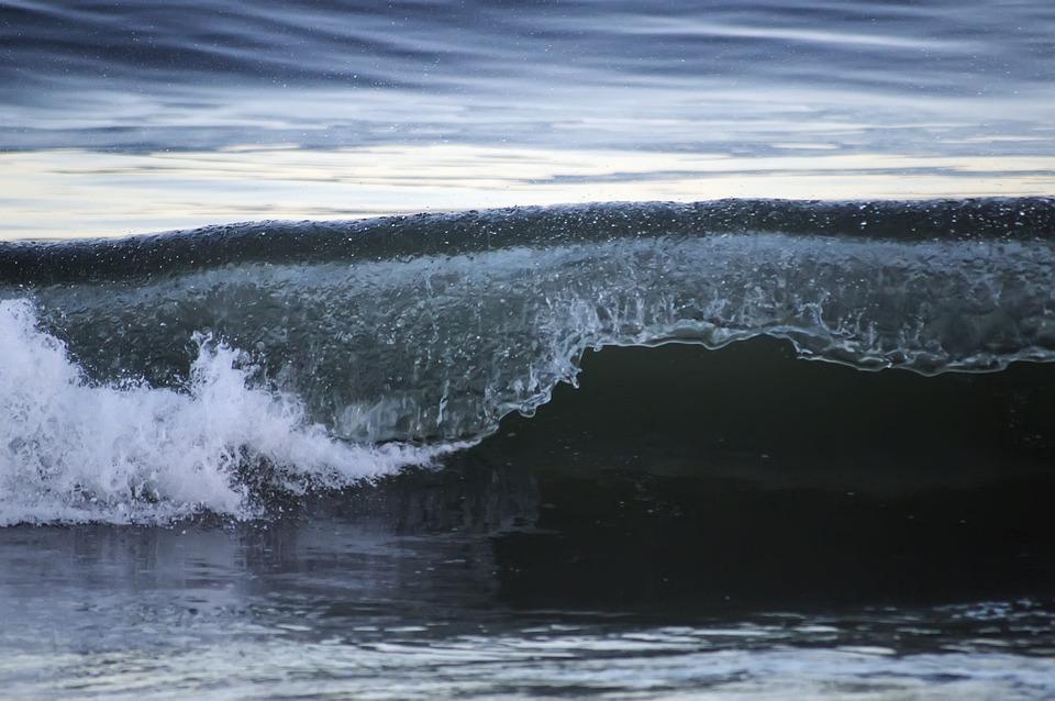 Ocean, Wave, Waves, Beach, Atlantic City