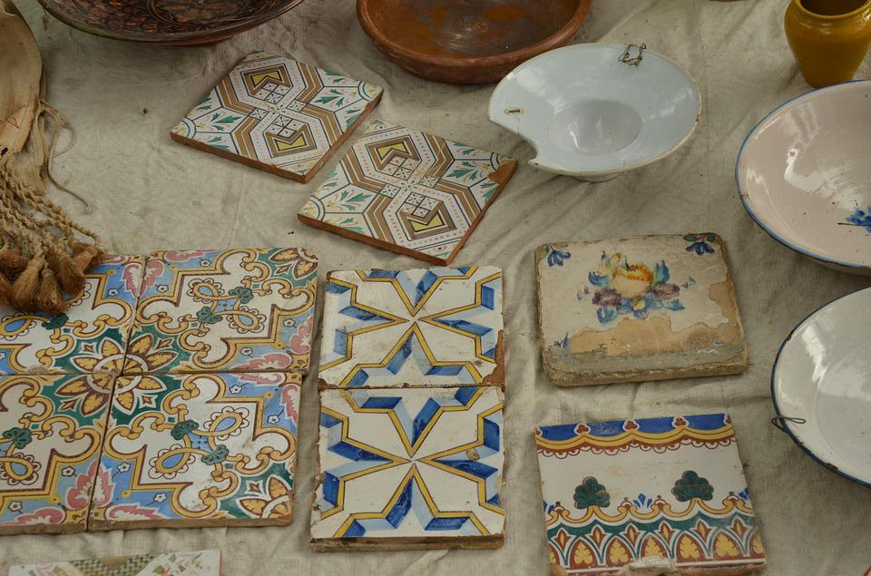 Market, Tile, Motive, Decoration, Antique, Oddities