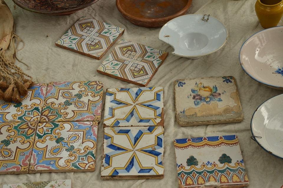 Market, Tile, Motive, Decoration, Antique, Oddities