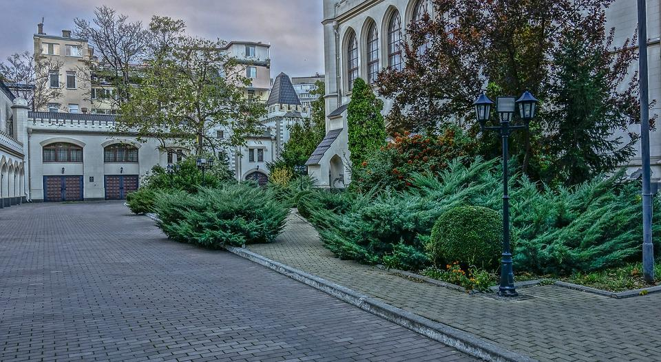 Odessa, Almond, Building, Stables