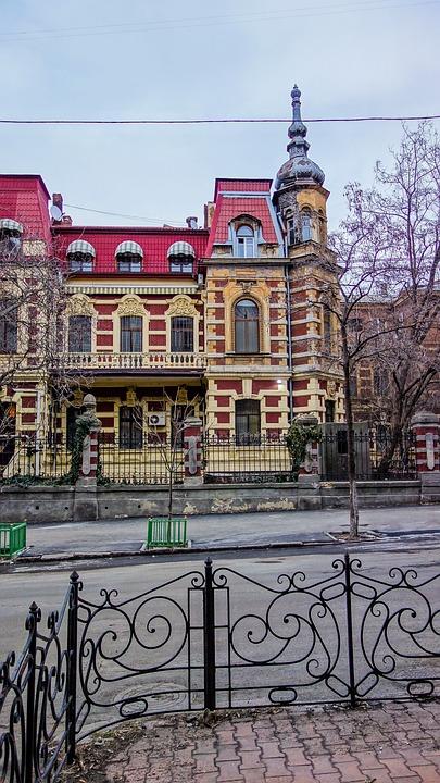Odessa, Street, Fence, Track