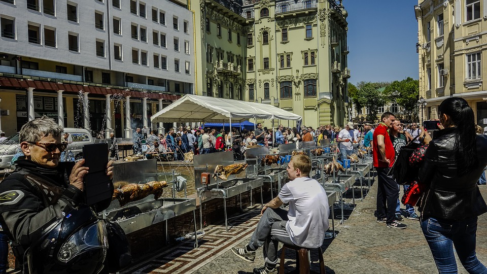 Street, Odessa, Greek Square, The Feast Of The Passover