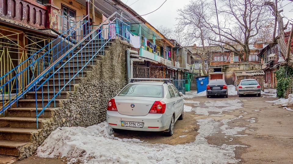 Odessa, Ladder, Yard, Snow