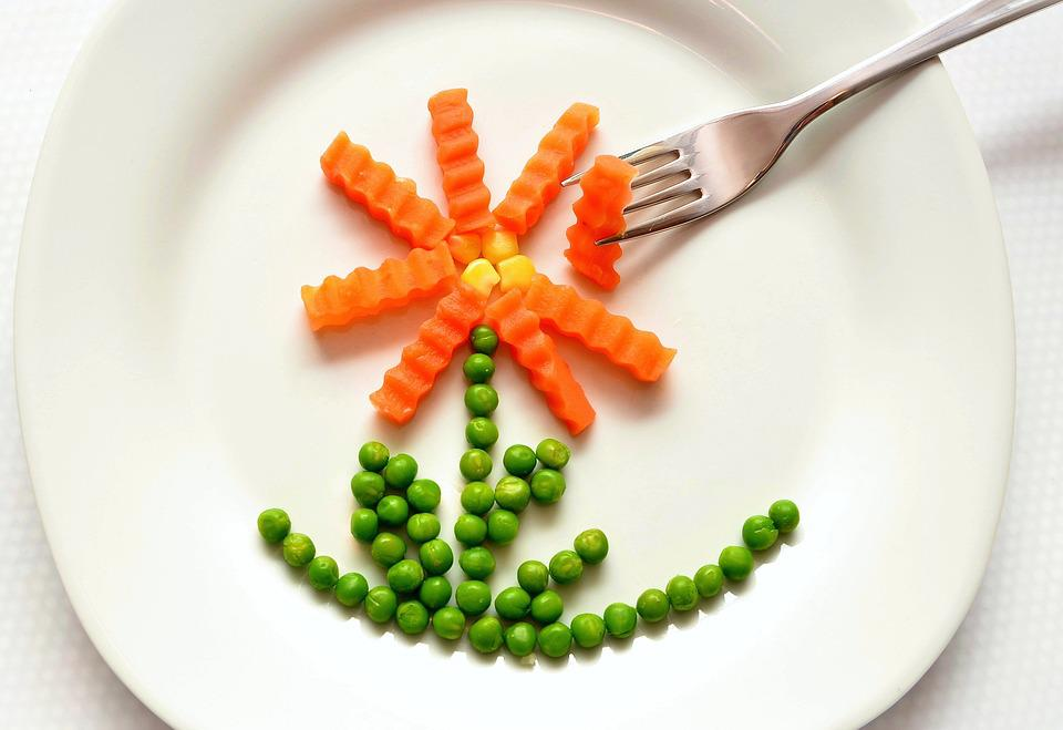 Eat, Carrots, Peas, Healthy, Of Course