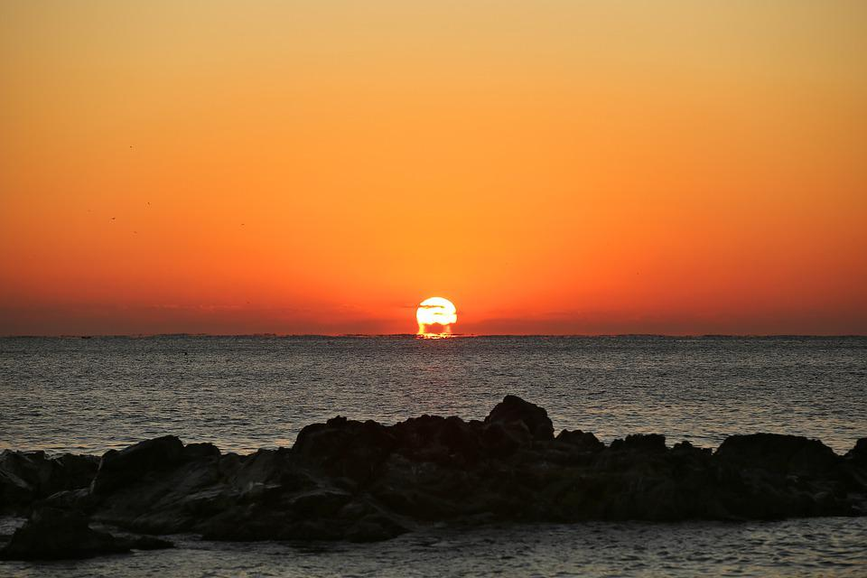 Sunrise, In The New Year, Of The Sun, Sea, Landscape