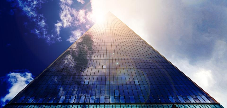 Skyscraper, Glass Facade, Facade, Office Building