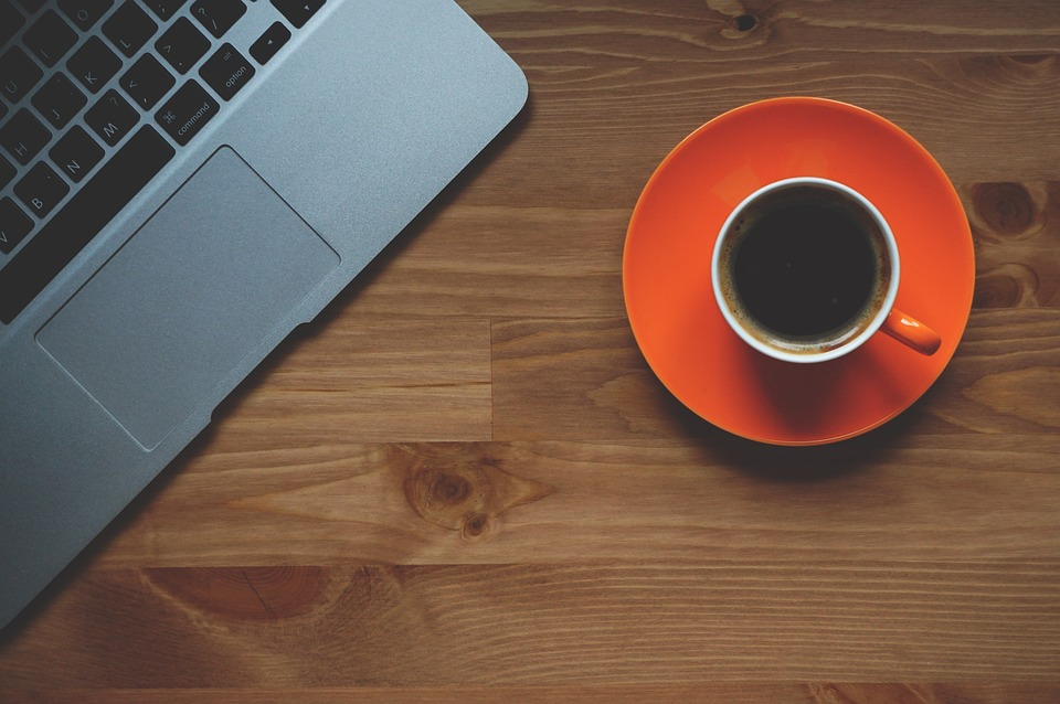 Cup Of Coffee, Laptop, Office, Macbook, Conceptual