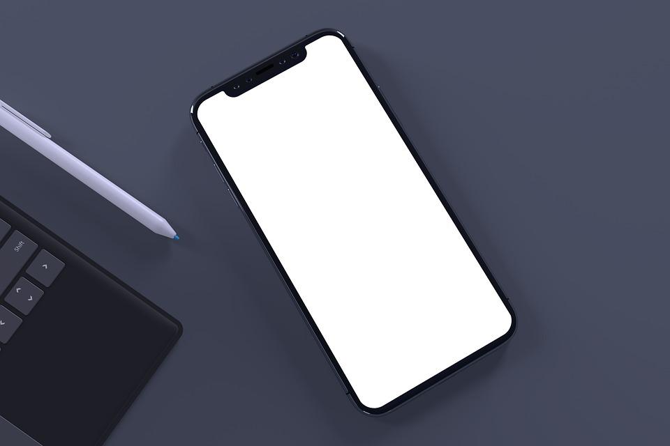 Apple, Iphone, Phone, Mockup, Smartphone, Office, Desk