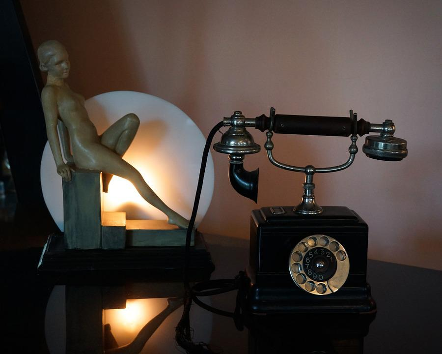 Phone, Office Table, Lamp, Museum