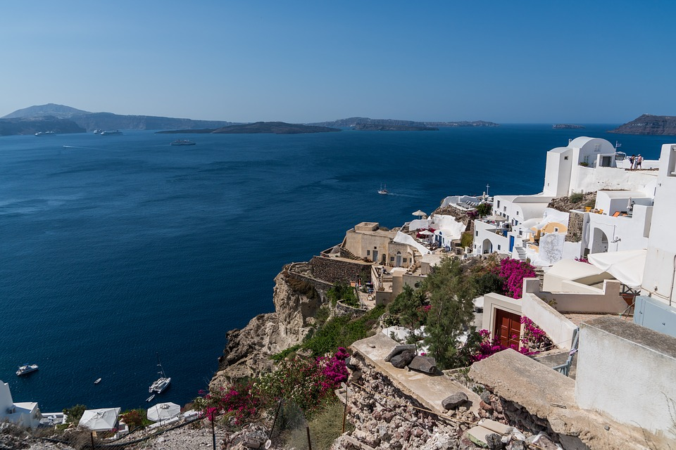 Santorini, Oia, Greece, Landscape, Travel, Summer