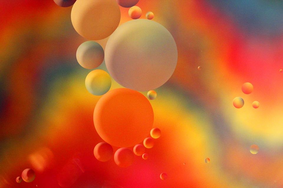 Spheres, Macro, Artistic, Oil, Water, Art, Floating
