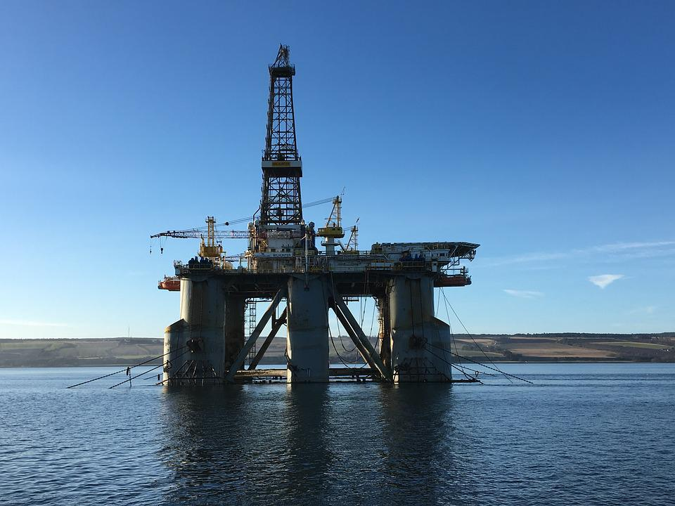 Oil Industry, Drilling Rig, Oil, Offshore