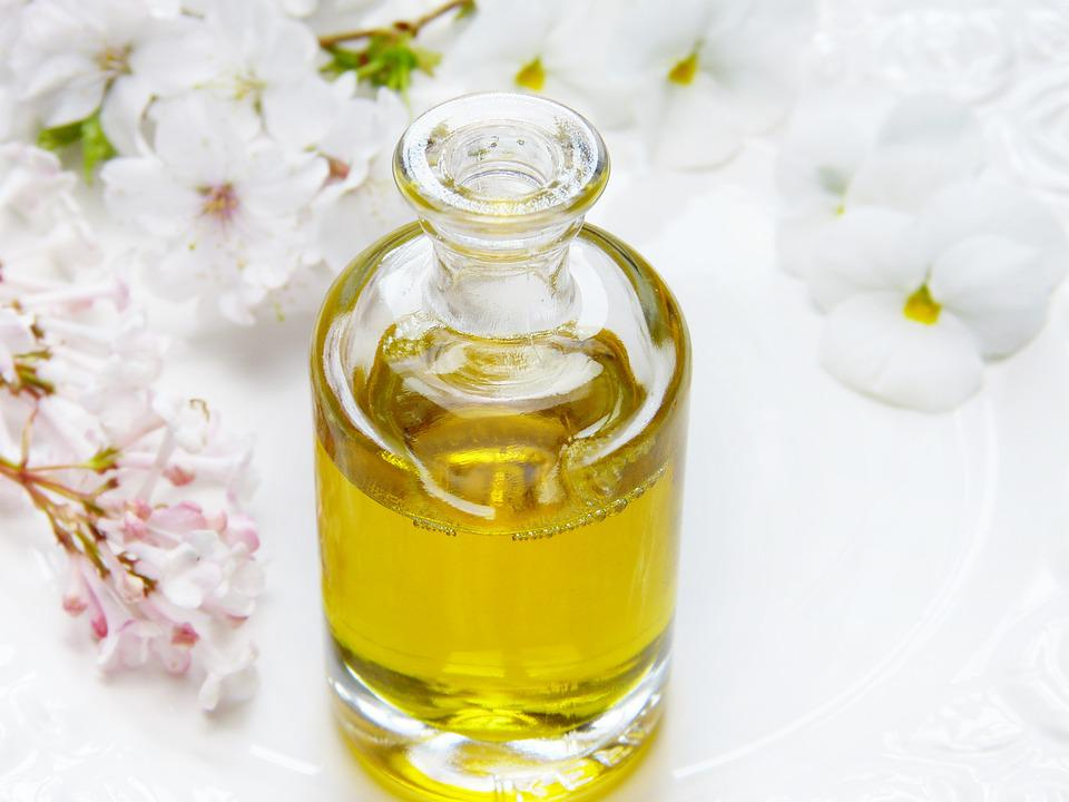 Glass, Bottle, Oil, Wellness, Flowers, Massage