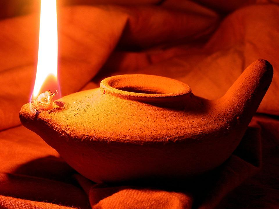 Oil Lamp, Clay Pot, Light, Pottery, Earthenware