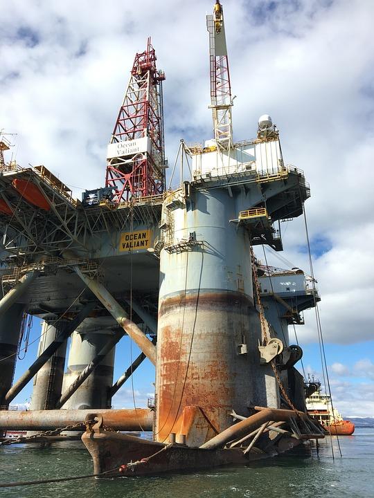 Oil Industry, Oil, Industry, Drilling Rig Ocean Valiant
