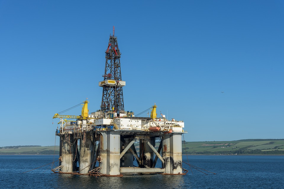 Oil Rig, Scotland, Cromarty Firth, Industry