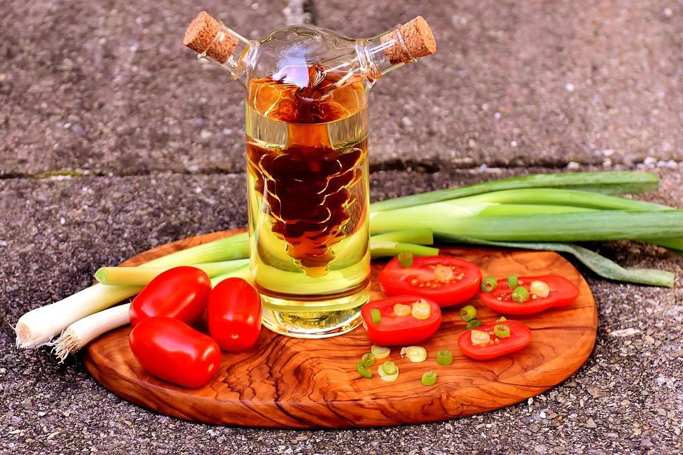 Tomatoes, Cocktailtomaten, Spring Onions, Vinegar, Oil