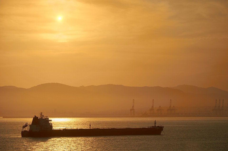 Sunset, Tanker, Oil Tanker, Sea, Abendstimmung