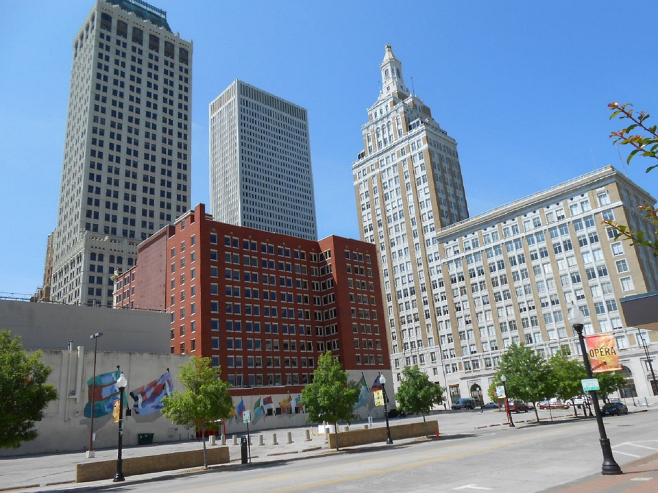 Downtown, Tulsa, Oklahoma, City, Skyline, Business