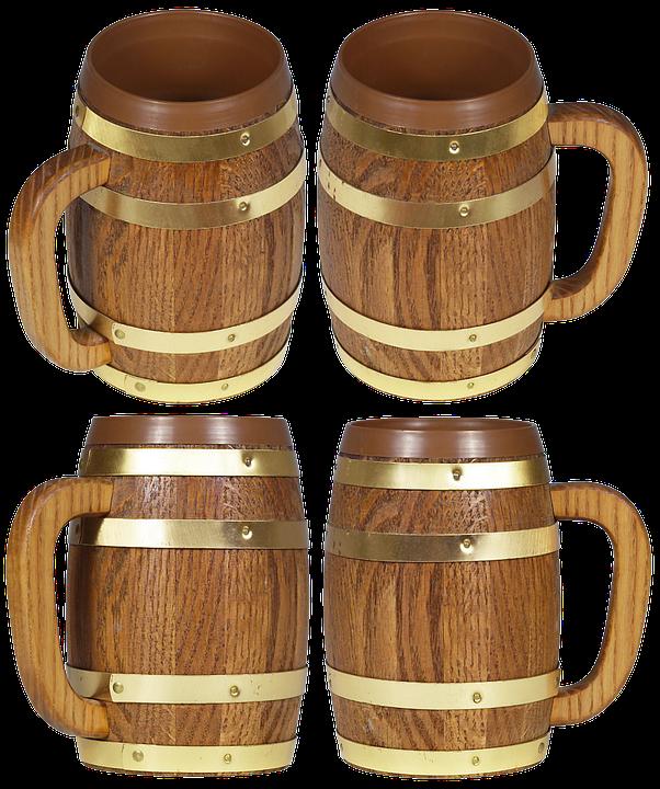 Mug, Capacity, Beer, Wooden Mug, Bar, Oktoberfest, Pub