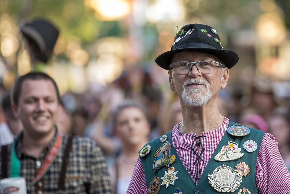 Oktoberfest, Man, Senior, Decoration, Tradition