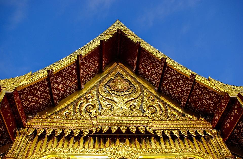 Ornate Thai Pavilion Gable, Olbrich, Botanical, Gardens