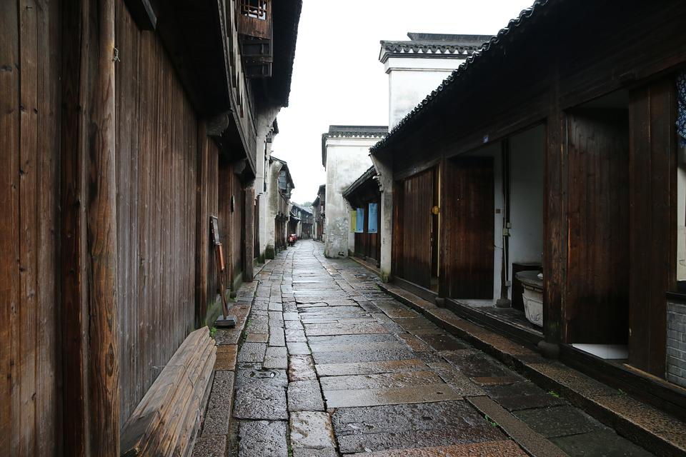 Architecture, Wood, House, Door, Old, 乌镇, 古镇