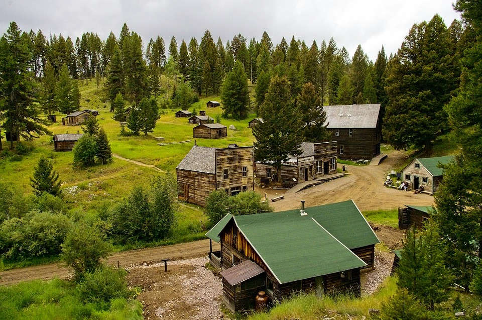Garnet Ghost Town Montana, Abandoned, Old, Ghost, Town