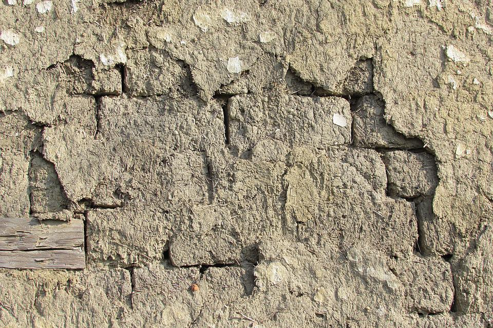 Wall, Structure, Old, Weathered, Adobe, Plastered