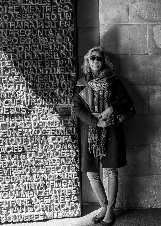 Woman, Lady, Blonde, Sunglasses, Old, Age