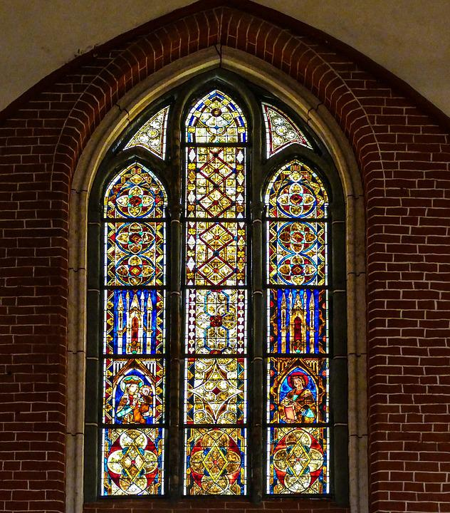 Stained Glass, Window, Old, Antique, Historically