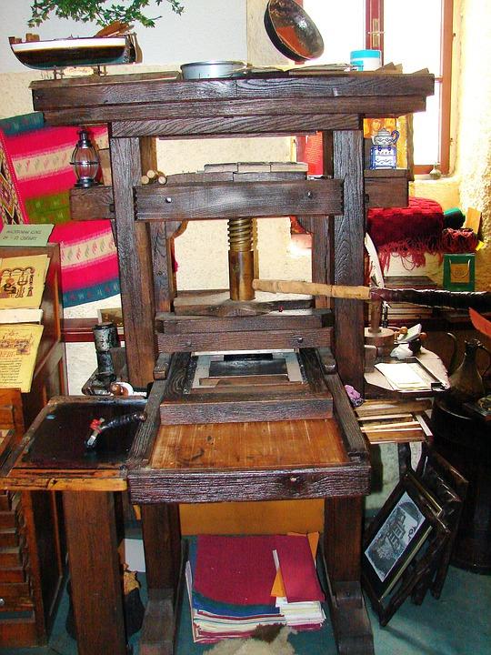 Press, Old, Manual, Vintage, Antique, Paper Making
