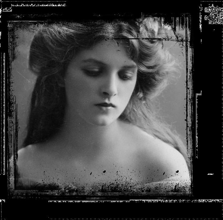 Lady, Photo, Vintage, Romantic, Old, Antique