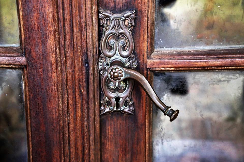 The Door, Door Handle, Rustic, Antique, Wooden, Old