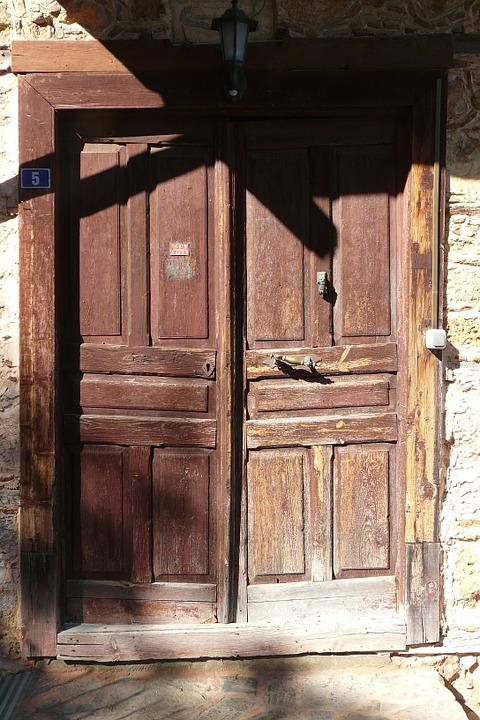 Front Door, Alanya, Turkey, Old, Antique