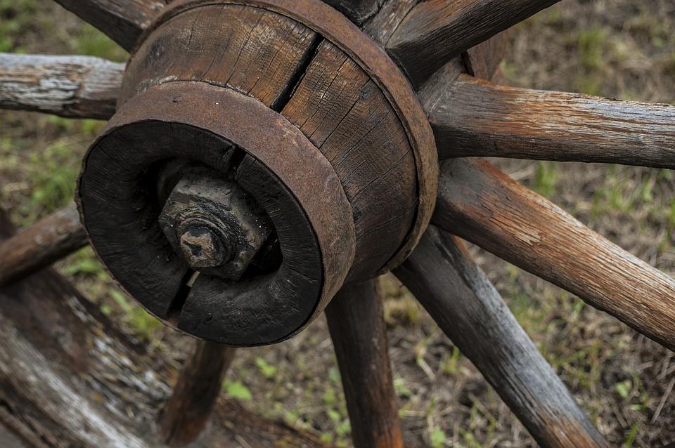 Wooden, Wheel, Wagon, Old, Wood, Vintage, Antique
