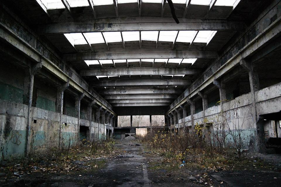 Factory, Abandoned, Hall, Old, Crash, Architecture