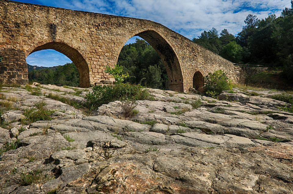 Bridge, Stone, Architecture, Landscape, Old