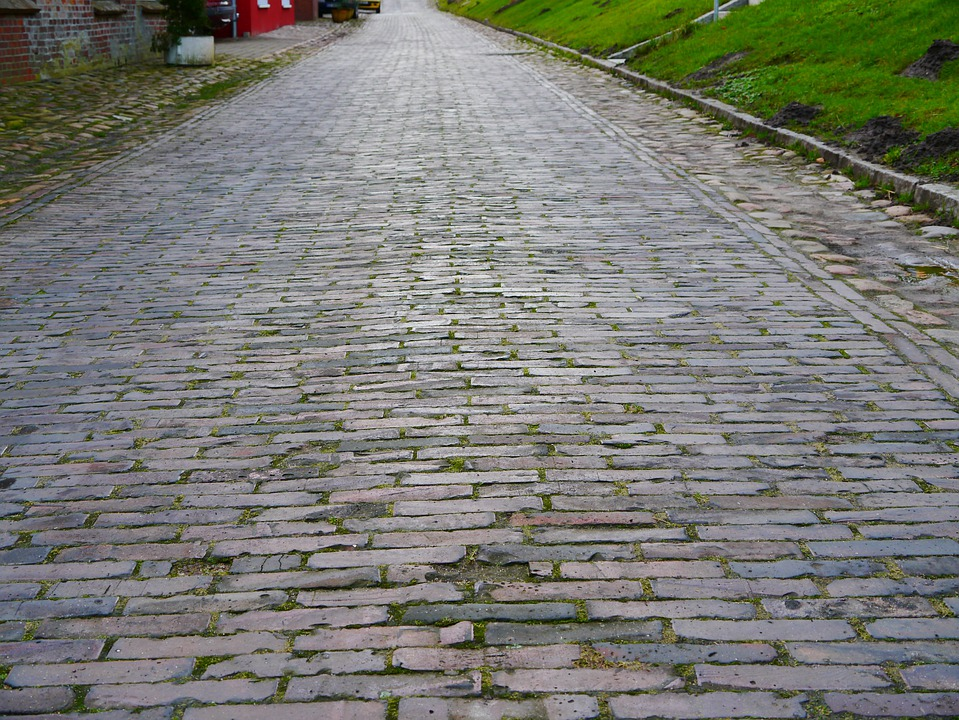 Patch, Paving Stones, Paved, Architecture, Road, Old