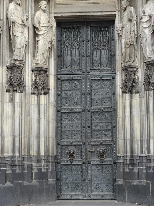 Door, Art, Baroque, Old, Expressive, Concept